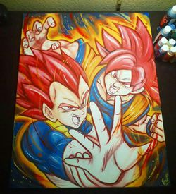 Super Saiyan God Goku & Vegeta! by Quil - Dragonball Z for Sale in Tracy,  CA