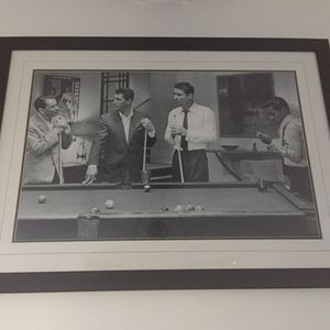 "44""x32"" Rat Pack Pool Hall Billiard Art Framed for Sale in Virginia Beach, VA"