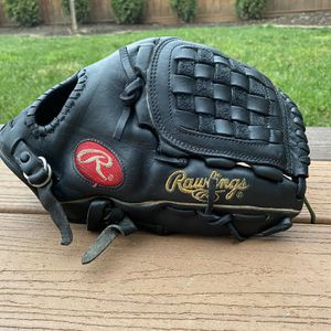 "Black Rawlings 12"" Heart of the Hide HOH PRO-1000BFB Baseball Glove Basket Web for Sale in Kenmore, WA"