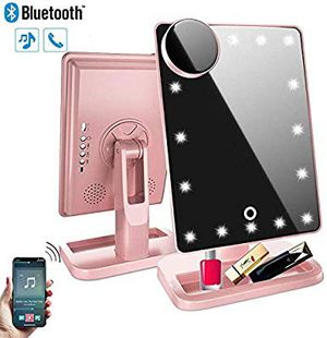 Bluetooth Makeup Mirror with Bluetooth,Vanity Mirror Rechargeable for Sale in San Antonio, TX