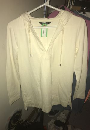 Used, Lauren by Ralph Lauren jersey knit sweater hoodie size Small /Medium for Sale for sale  Brooklyn, NY