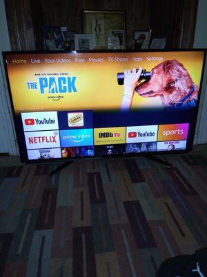 50 INCH LED HD 1080P SHARP TV..WITH A JAILBROKEN FIRESTICK...VERY FIRM for Sale in Warren, MI