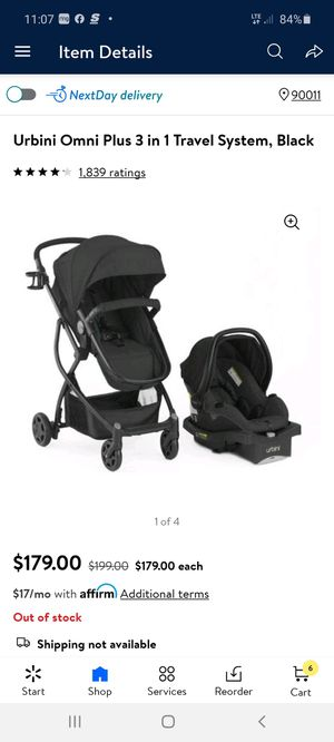 Even flo Urbini omni plus travel system infat car seat for Sale in Los Angeles, CA