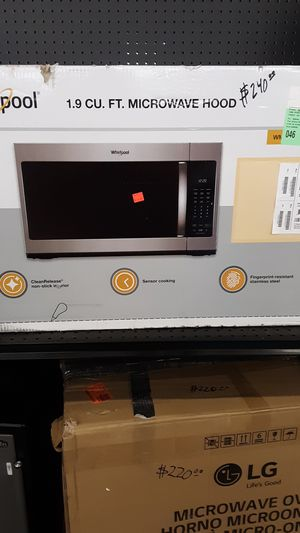 whirlpool microwave hood for Sale in Phoenix, AZ
