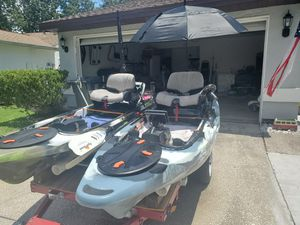 Two 10' Feel Free Lure Motor Kayaks for Sale in Oldsmar, FL