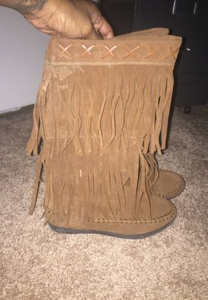 Women 2Layer fringe flat boots for Sale in Euclid, OH