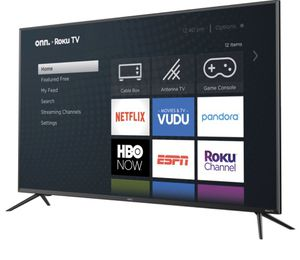 "Brand new 50"" onn 4K UHD LED Roku smart tv for Sale in Providence, RI"
