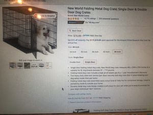 Used XL dog Crate (damaged but still works) for Sale in Phoenix, AZ