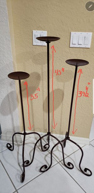 3 Metal Candle Holders for Sale in Davenport, FL