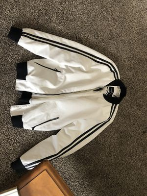 Medium White Leather Bomber Jacket for Sale in San Diego, CA