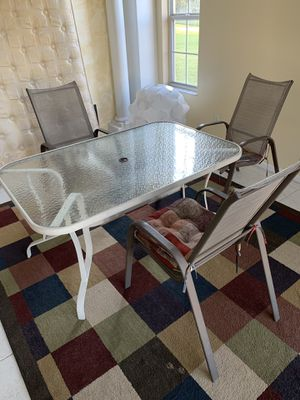 Table and 3 chairs ( missing one) for pool or porch for Sale in Orlando, FL