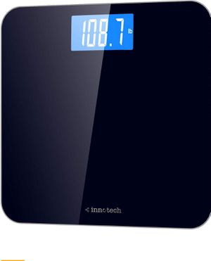 INNOTECH 4.5 out of 5 stars 2,039 Reviews Innotech® Digital Bathroom Scale with Easy-to-Read Backlit LCD (Black) for Sale in Holly Springs, NC