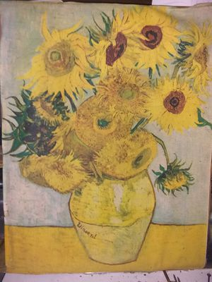 Sunflower painting from the 1940's for Sale in Palm Springs, FL
