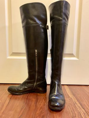 Frye black knee high boots size 6.5 for Sale in Boston, MA