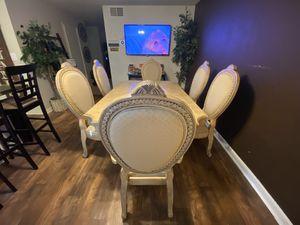 Beautiful contemporary 7pc dinette set for Sale in Sacramento, CA