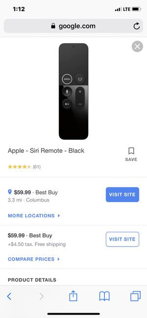 Apple TV Remote like new for Sale in Columbus, OH