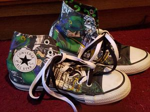 Riddler converse custom boy shoes for Sale in Tampa, FL
