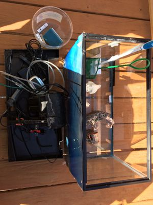 10 gallon fish tank with accessories ready to use for Sale in Woodbridge, VA