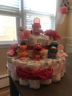 GIRL ELMO DIAPER CAKE for Sale in Oak Lawn, IL