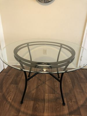 Glass round dining table 48 inches for Sale in Nashville, TN
