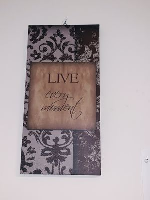"""""""Live every moment"""" and """"Laugh every Day"""" Canvas Wall Hangings!! for Sale in Philadelphia, PA"""