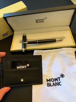 Montblanc Gift Set Pen With Credit Cards Holder for Sale in Los Angeles, CA