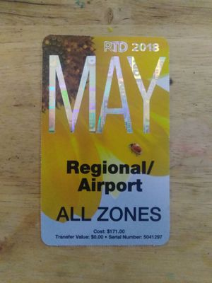 RTD regional May pass for Sale in Denver, CO
