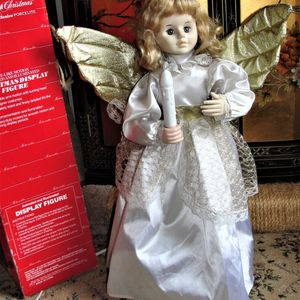 """Vintage 1980's Telco Motionettes Animated Illuminated 24"""" Angel in Original Box Vintage TELCO MOTION-ettes of Christmas 24"""" Angel with Light Colored H for Sale in Bristol, PA"""