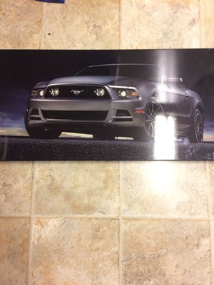 hd 36 x 17 mustang art for Sale in Marengo, OH