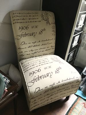 Text printed accent Chair for Sale in New York, NY