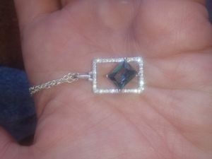 925 StaMped DiaMoNd TopaZ Designed NeCkLaCe for Sale in Bountiful, UT