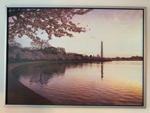 Huge IKEA Washington DC tidal basin print in frame for Sale in Arlington, VA