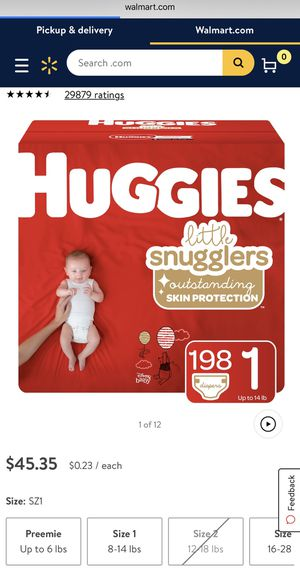 Huggies size 1 retail $45 for Sale in Hayward, CA