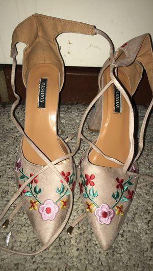 Block Heel Flower Design for Sale in Irving, TX