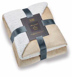 Comfy Sherpa Blanket -(Beige, 50 x 60) Brandnew for Sale in Quitman, TX