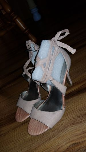 Blush pink ankle strappy heels size 7M - new for Sale in Alexandria, VA