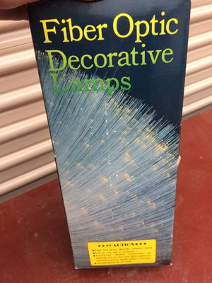 Fiver optic decorative lamp for Sale in Midlothian, VA