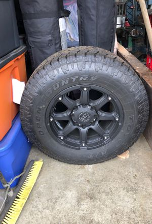 Black Rhino 18 rim and tire for Sale in Portland, OR