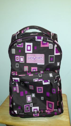 Jansport Superbreak Wheeled Rolling Backpack JCP Chocolate Chip P Suitcase for Sale in Tacoma, WA