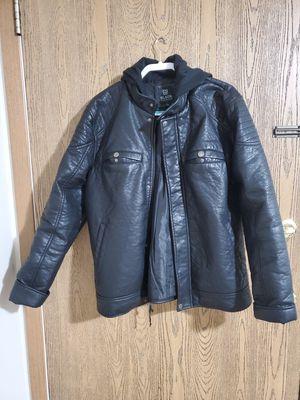 Men Leather Jacket Black size L for Sale in Grand Island, NE