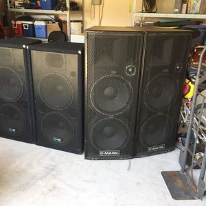 Professional P/A loudspeakers - Yorkville & C-Mark for Sale in Webster, TX