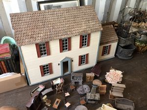 Real Wood To Scale Antique Doll House for Sale in Fairburn, GA