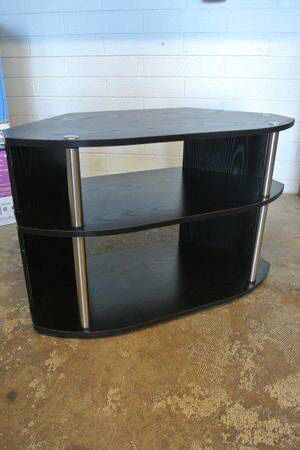 Convenience Concepts Wood Swivel TV Stand in Black for Sale in Mesa, AZ