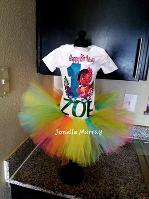 Moana Tutu Birthday Outfit for Sale in Dallas, TX