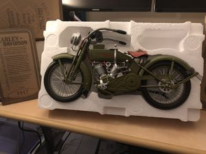 1917 Harley Davidson V-twin 1/6 scale Motorcycle Museum Quality Replica for Sale for sale  Fallsington, PA