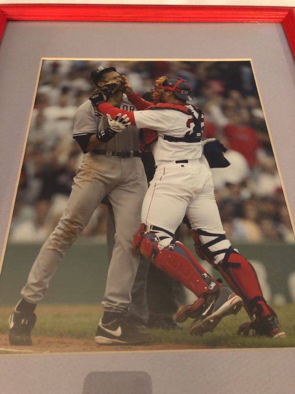 Iconic Red Sox Picture in Red Frame