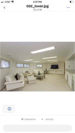 Contemporary white leather couches for Sale in Carol Stream, IL