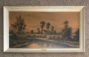 Evening in Devonshire Painting by J. C. Sherwood '45 x 25 Ready Hang for Sale in Port St. Lucie, FL