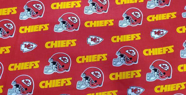 Kansas City Chiefs Fabric 1 yard