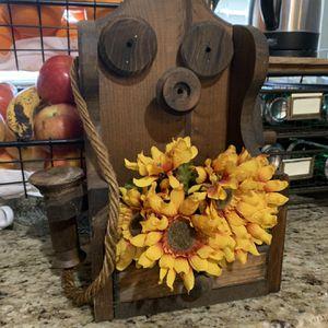 Wood Vintage Wall Phone Flower Plant Holder for Sale in Fullerton, CA